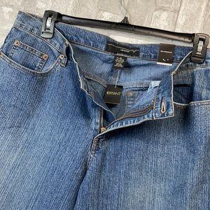 Lane Bryant Venezia flare leg low waist blue jean